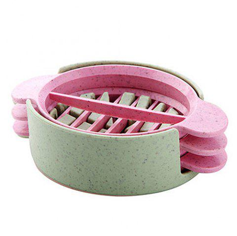 3 in 1 Wheat Straw Egg Cutter / Slicer - LIGHT PINK