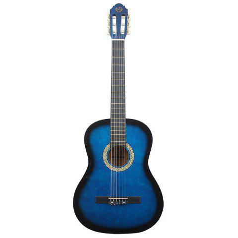 MEIBEITE Classical 39 inch Guitar Rounded Corner - STEEL BLUE