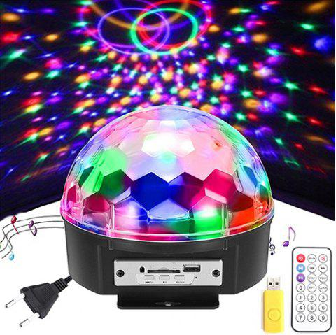 6w Remote Controlled Led Stage Light Disco Ball 1pc Black