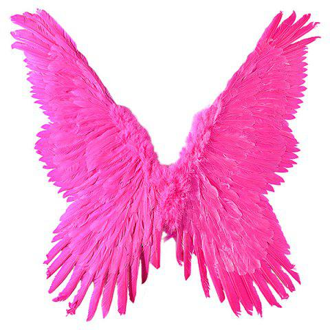 Stylish Decorate Wings for Halloween Party - BRIGHT NEON PINK