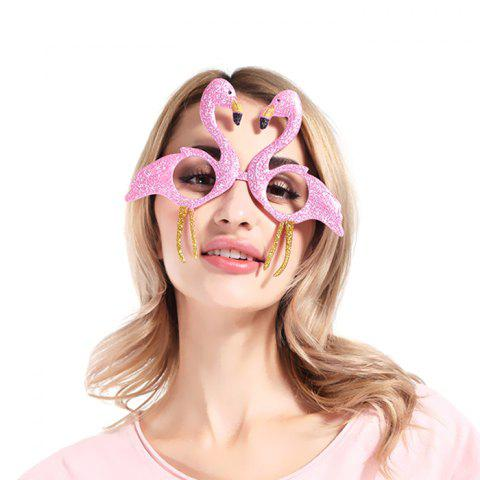Flamingo Funny Glasses for Christmas Party - multicolor A