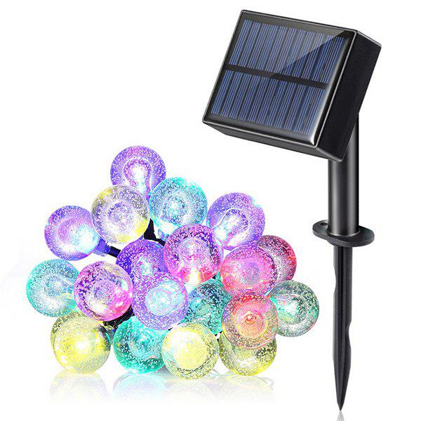 20-LED Waterproof Ball Shape Solar Power String Light for Outdoor - BLACK