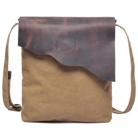 GFAVOR Men's Small  Canvas Crossbody Bag - LIGHT KHAKI
