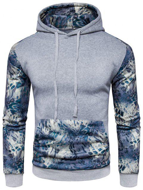 Long Sleeve Hoodies for Men with Printed Pattern - LIGHT GRAY 2XL