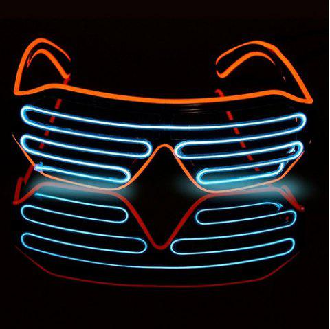 Halloween Voice-activated Mixed-color Illuminating Glasses Toys - CRYSTAL BLUE