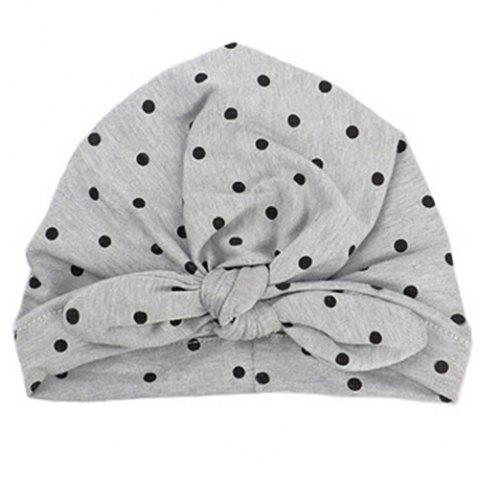 New Rabbit Ears Knot Dots India Baotou Hat - GRAY
