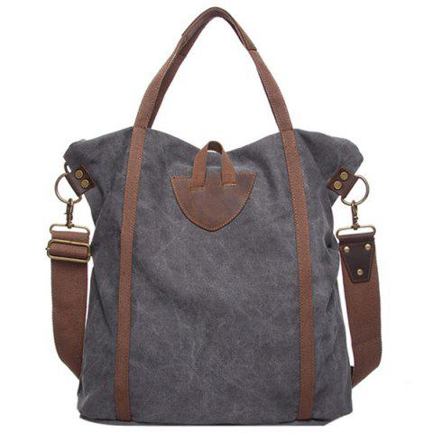 GFAVOR 6248 Classic Canvas Handbag for Women - GRAY
