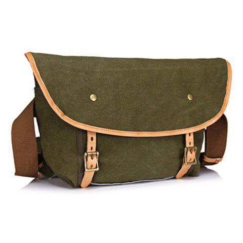 GFAVOR 1938 Canvas Shoulder Diagonal Package for Traveling - ARMY GREEN