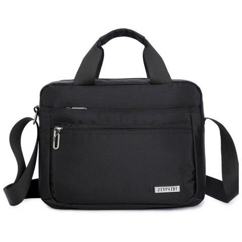 8711 Waterproof Nylon Crossbody Bag for Men - BLACK