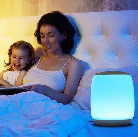 Outdoor Portable Wireless Bluetooth Speaker Colorful Night Light - WHITE