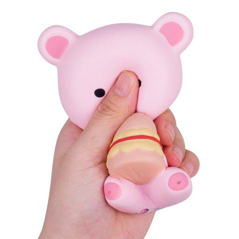 Cartoon Bear Squishy Toy Slowrebound Stress Reliver with Fragrance - LIGHT PINK