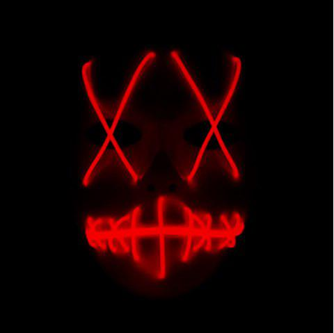 Halloween EL Wire Ghost Mask Cold LED Light up Toy - RED