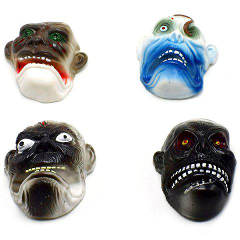 Party Finger Puppet Ghost Head Mask Halloween Toys 4pcs - multicolor