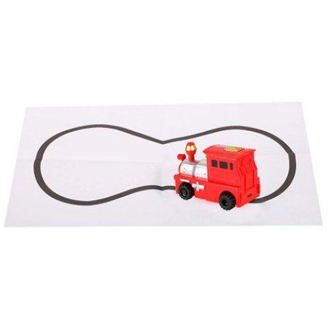 Magic Inductive Toy Car Follow Black Lines for Kids - RED