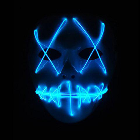 Halloween EL Wire Ghost Mask Cold LED Light up Toy - SKY BLUE