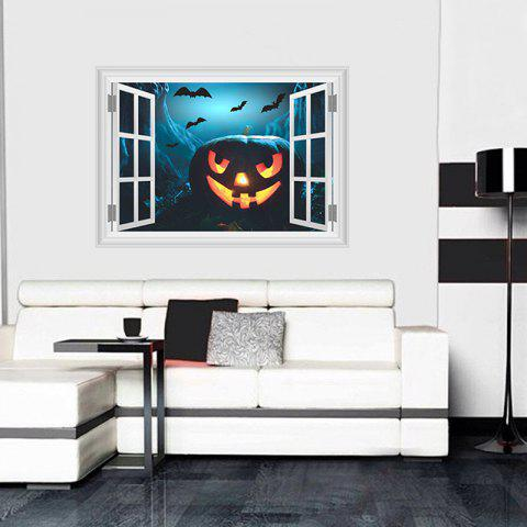 New 3D Horror Ghost Castle Pumpkin Head Wall Paper for Living Room Decoration - BLACK