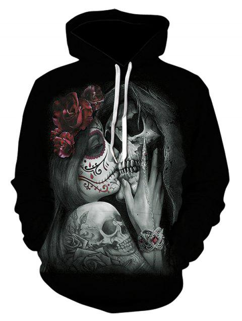Sweat à capuche loisirs pour hommes Creative Hooded Print 3D confortable - multicolor A 3XL
