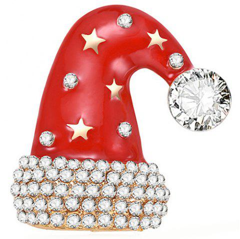 Christmas Hat Style Beautiful Brooch for Women - RED