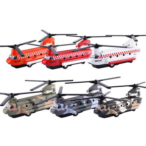 Double-rotor Helicopter Model Toy - multicolor A