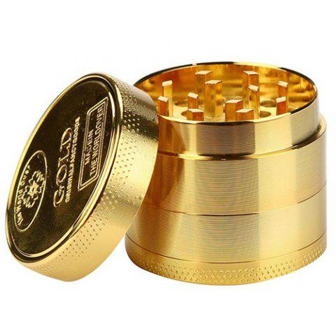 40mm 4 Layers Zinc Alloy Gold Tobacco Grinder - GOLD