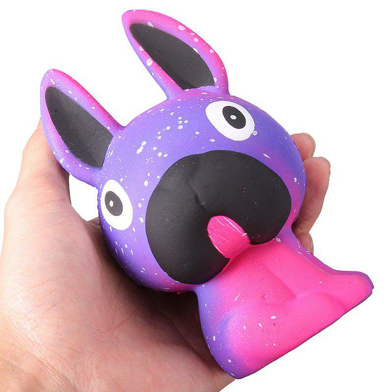 Squishy Pressure Relieved Long Ear Dog Toy for Children - NAVY BLUE