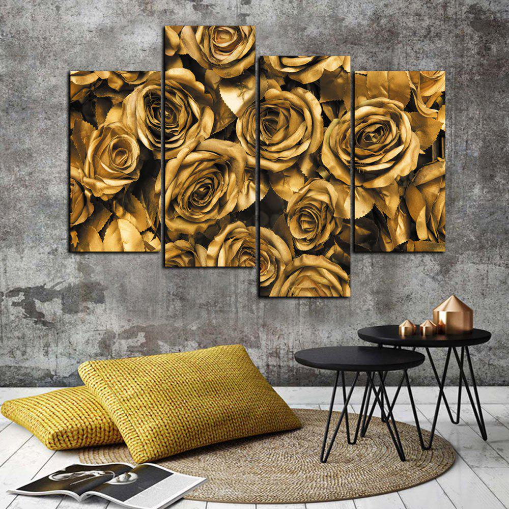 God Painting j041 - 14 Frameless Painting Rose - ORANGE GOLD