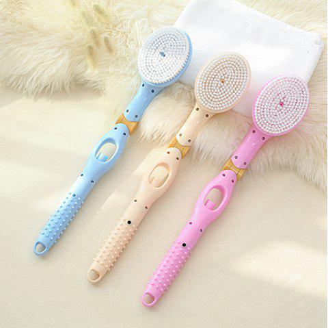 Long Handle Flexible Automatically Add Shower Gel Massage Soft Wool Bath Brush - PINK 1PC