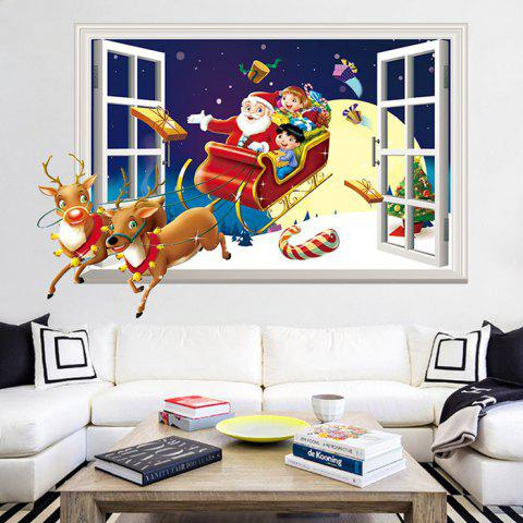 3D New Christmas Removable Wallpaper for Room Decoration - RED