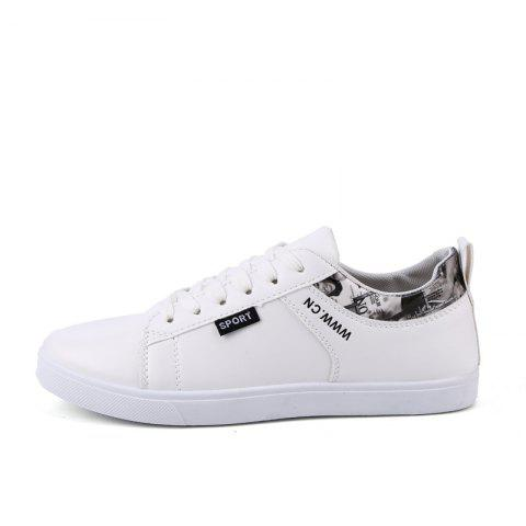 Trendy Simple Slip-on Ventilate Skateboarding Shoes - WHITE EU 41
