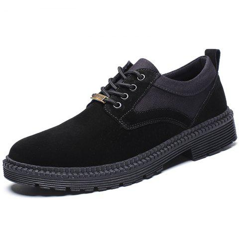 Men's Fashion Oxford Shoes for Daily Use - BLACK EU 39