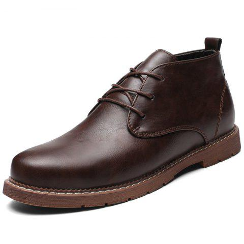 Men's Oxford Shoes for Daily Use - BROWN EU 44