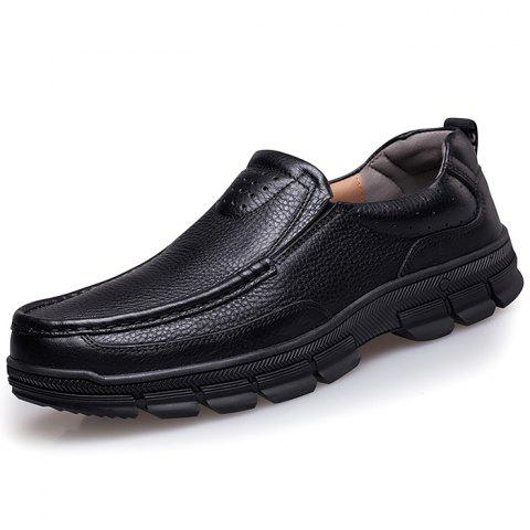 Men's Casual Comfortable Oxford Shoes - BLACK EU 46