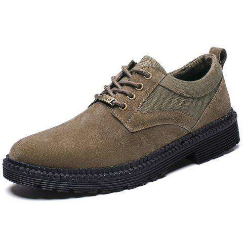 Men's Fashion Oxford Shoes for Daily Use - LIGHT KHAKI EU 40