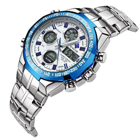 WWOOR 8019 Men Business Quartz Watch Imperméable Loisirs - Bleu