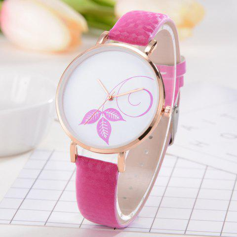 Women's Watches Simple Fashion - ROSE RED
