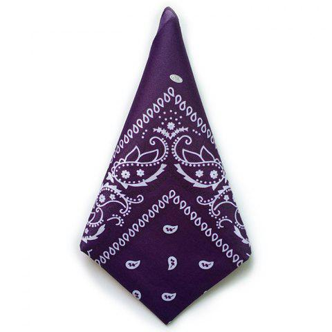 Fashion Scarf Classic Multicolor Comfortable Kerchief - PURPLE IRIS