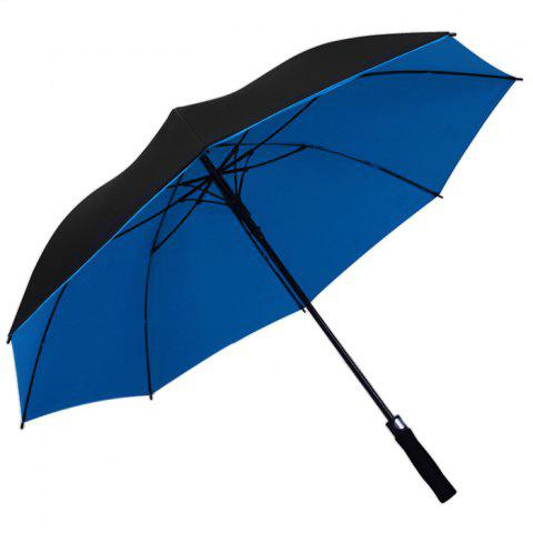 Automatic Straight and Long Shank Oversize Umbrella - BLUEBERRY BLUE