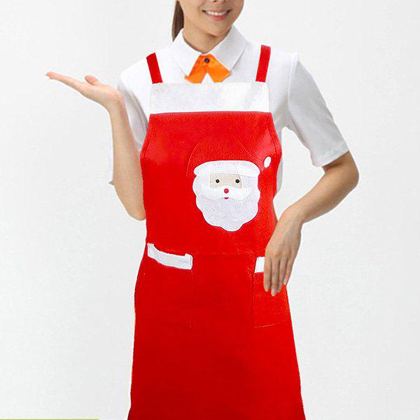 Christmas Decoration Party Kitchen Supply Nonwoven Apron - RED