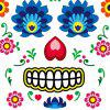Fashion Halloween Theme Tattoo Sticker - multicolor