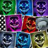Halloween EL Wire Ghost Mask Cold LED Light up Mask Toy - ROSE RED