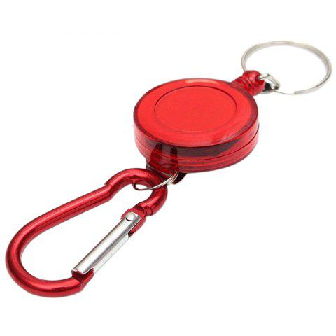 Retractable Badge Reel Key Chain - LAVA RED