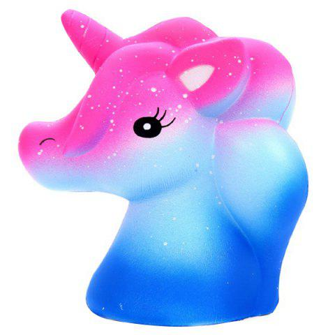 Cartoon Colorful Unicorn Squishy Toy Slowrebound Stress Reliving - multicolor A
