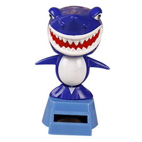 Solar Shaking Head Toy for Decoration - BLUEBERRY BLUE