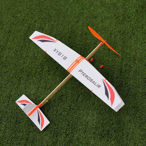 Rubber Band Powered Plane Glider DIY Model Toy - multicolor A