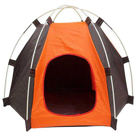 Pet Tent Dog Cat Oxford Cloth Outdoor Travel Supplies - PUMPKIN ORANGE