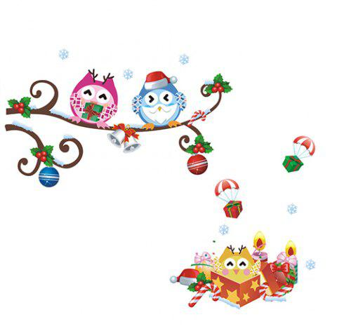 ZY1012 Owl Pattern Wall Sticker for Decoration - multicolor A