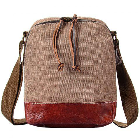 2019 GFAVOR Retro Canvas Little Crossbody Bag In CAMEL BROWN ... 745e176aca