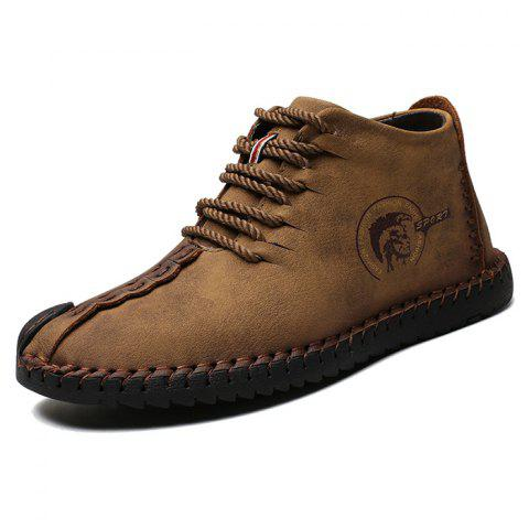 Men's Fashion Casual Leather Shoes for Daily - WOOD EU 47