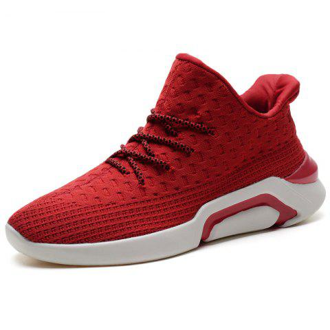 Men's Leisure Sports Shoes with Fly Woven for Outdoor - RED EU 40