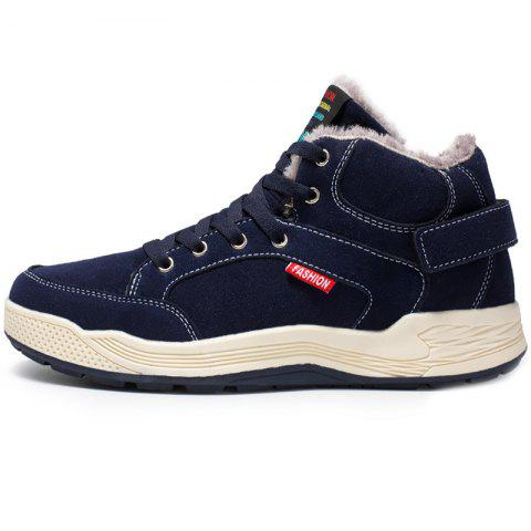 Men Fashionable Street Warm Sneakers - DENIM DARK BLUE EU 39